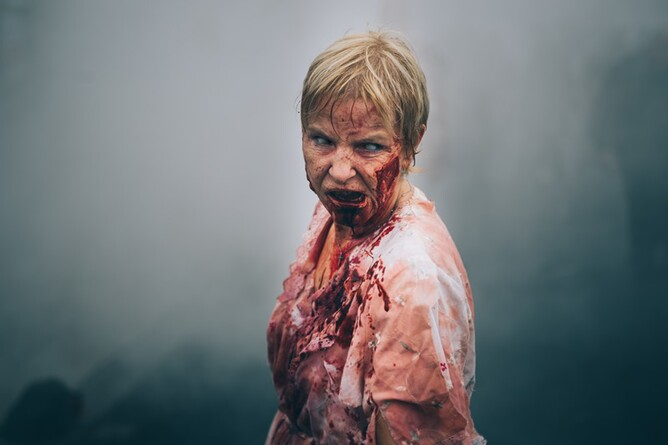 An Infected-Woman zombie in REDCON-1