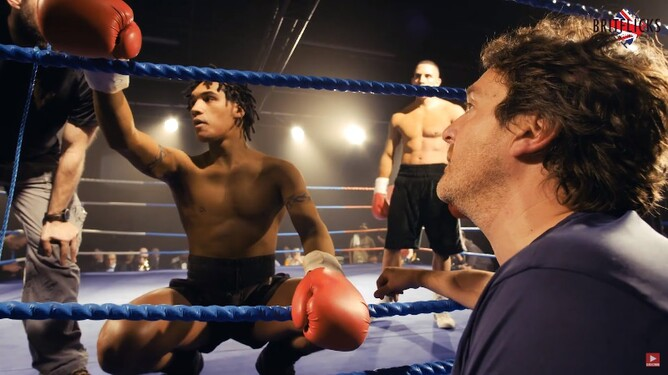 Conor Benn playing his boxing father Nigel