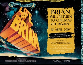 Monty Python's Life of Brian In Cinemas To Celebrate 40th Anniversary Courtesy Of Trafalgar Releasing.