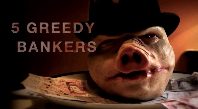 5 GREEDY BANKERS film review and trailer